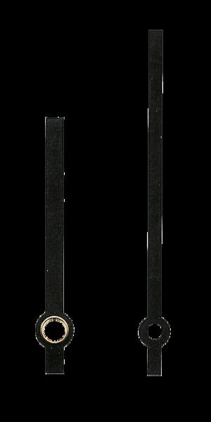 Uhrzeiger png  für Quarz Uhrwerke Uhrzeiger Länge 67/47 mm schwarz