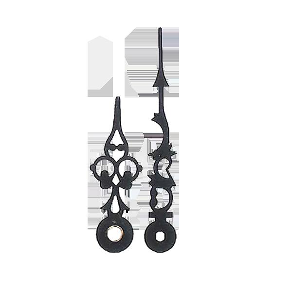 Uhrzeiger png  für Quarz Uhrwerke Uhrzeiger Länge 60/42 mm schwarz