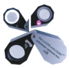 Watchmaker Magnifier Pocket Magnifier with 6 LEDs and UV light
