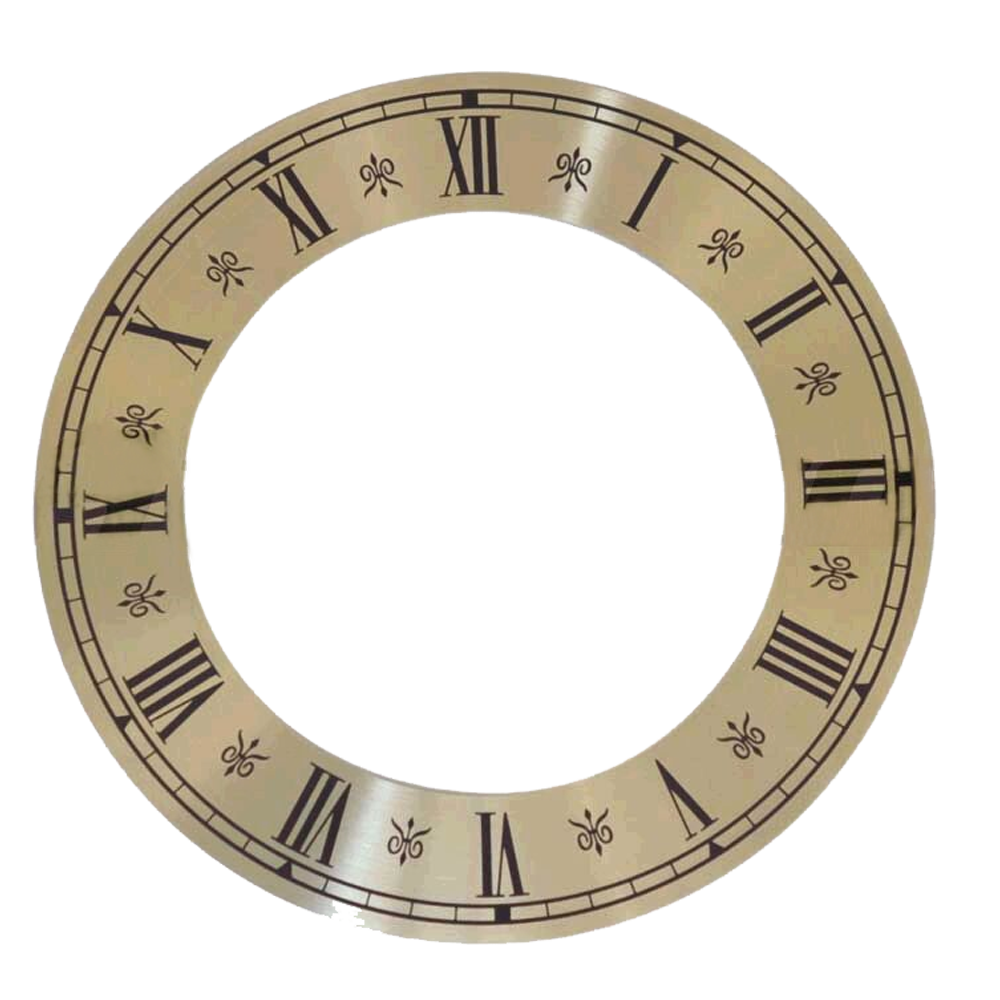Numerals dial for watches Roman numerals outside Ø 120 mm