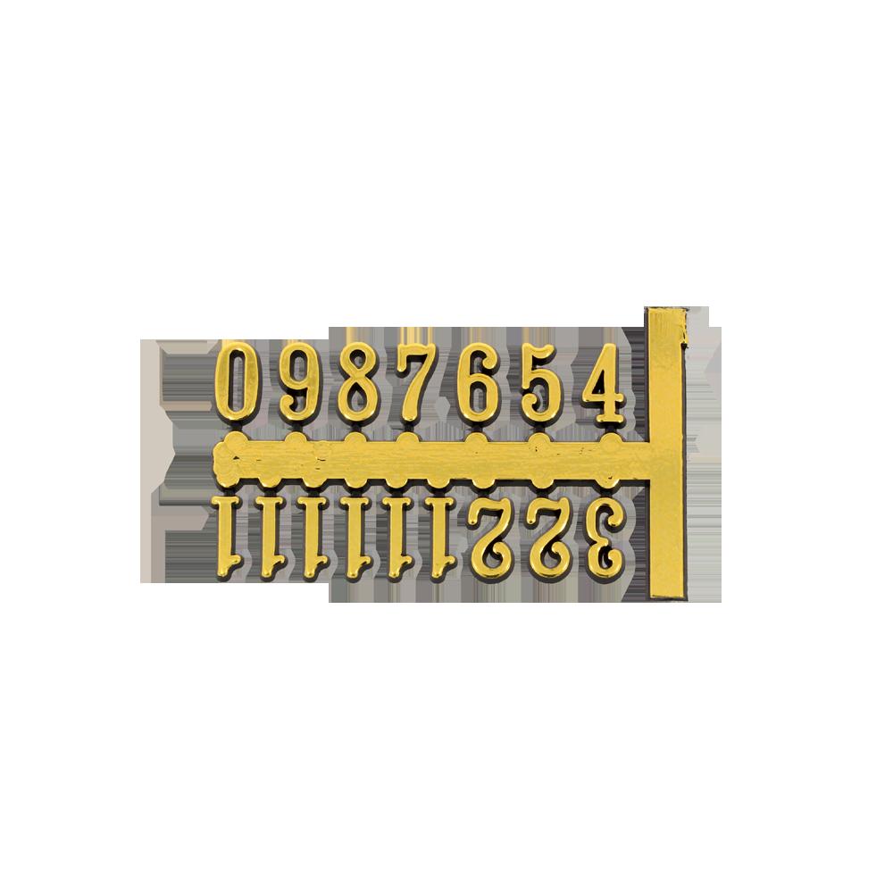Zahlensätze Arabische Zahlen Von 1 Bis 12 Zum Aufkleben