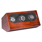 AUGUSTA watch winder for 3 watches from bubinga wood