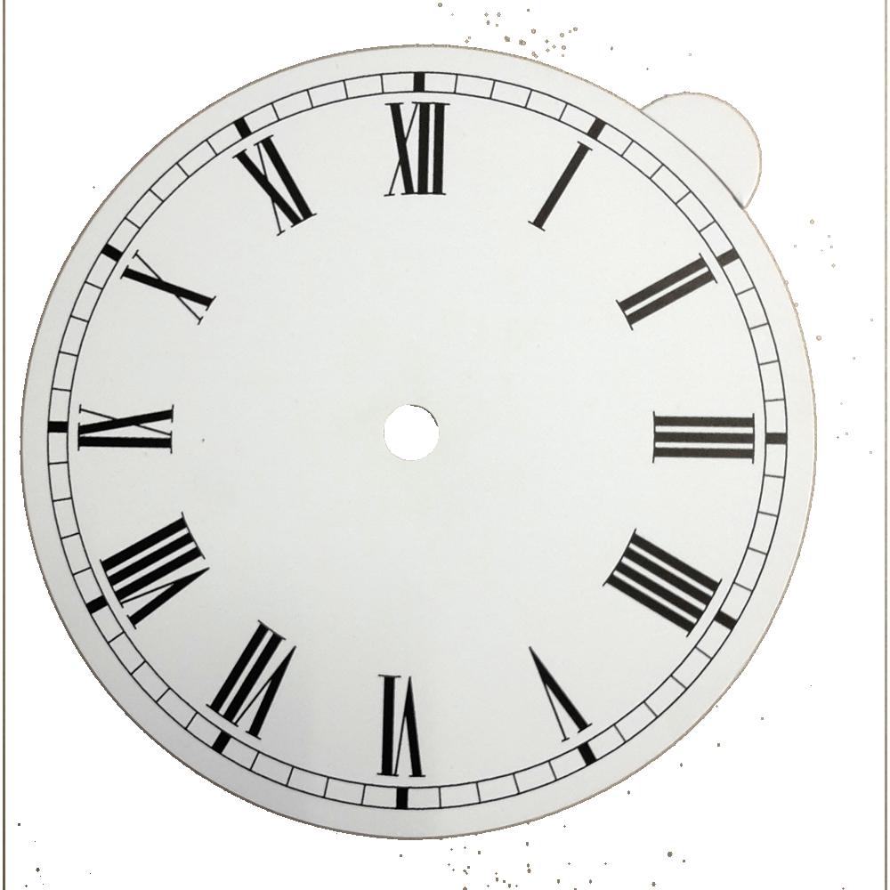 Zifferblatt Weiß Für Uhren Wanduhren Römische Zahlen