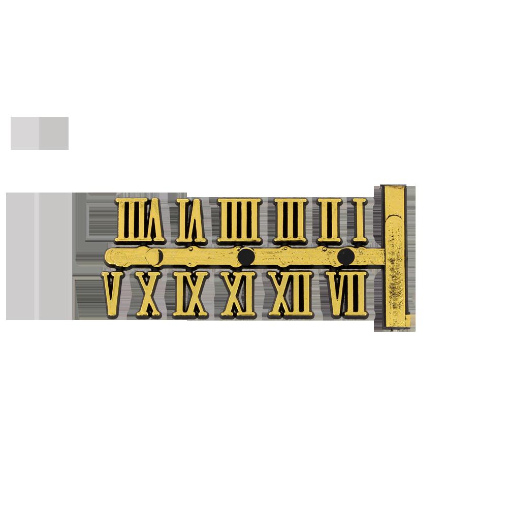 Arabischer Zahlensatz aus Kunststoff gelb 15 mm