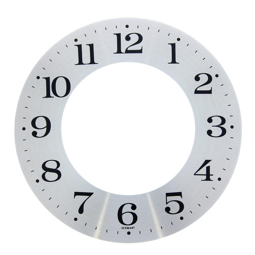 Numbered dial Arabic numerals outside Ø 155 mm aluminum