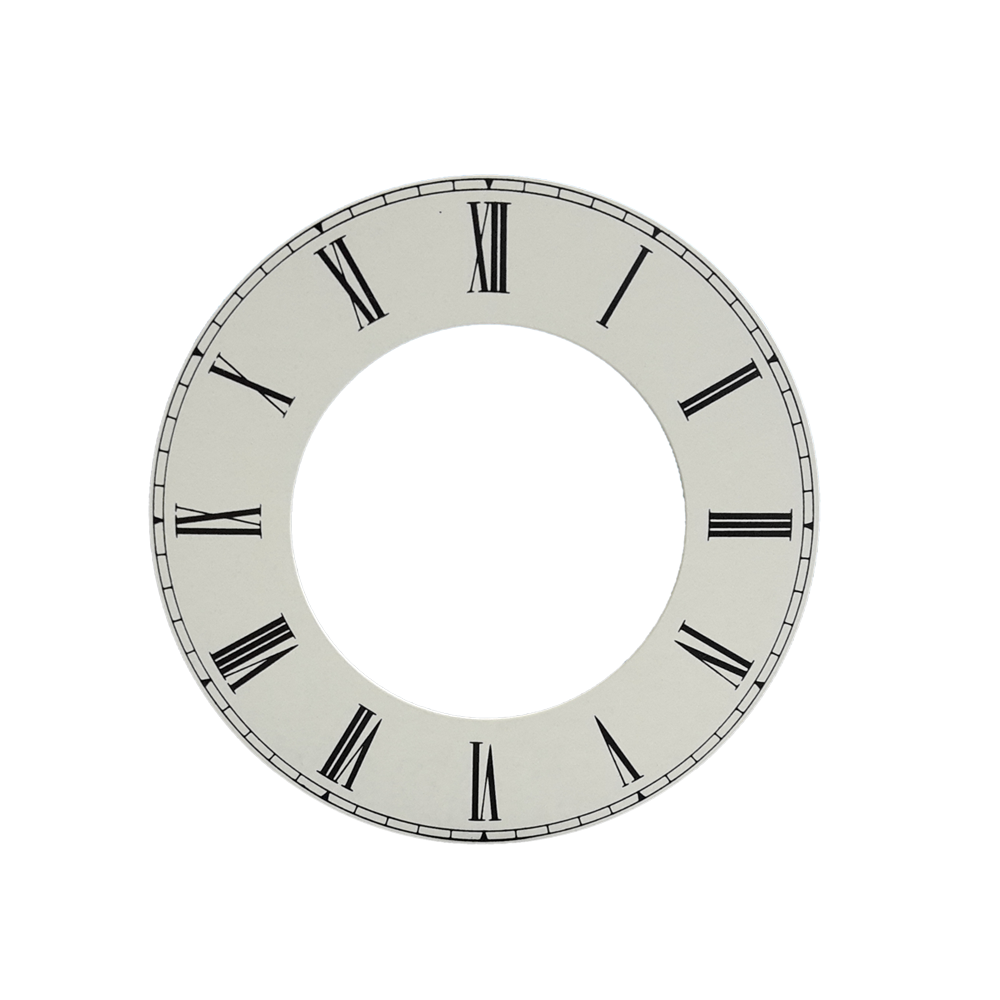 Dial white dial for watches Roman numerals Ø 100 mm