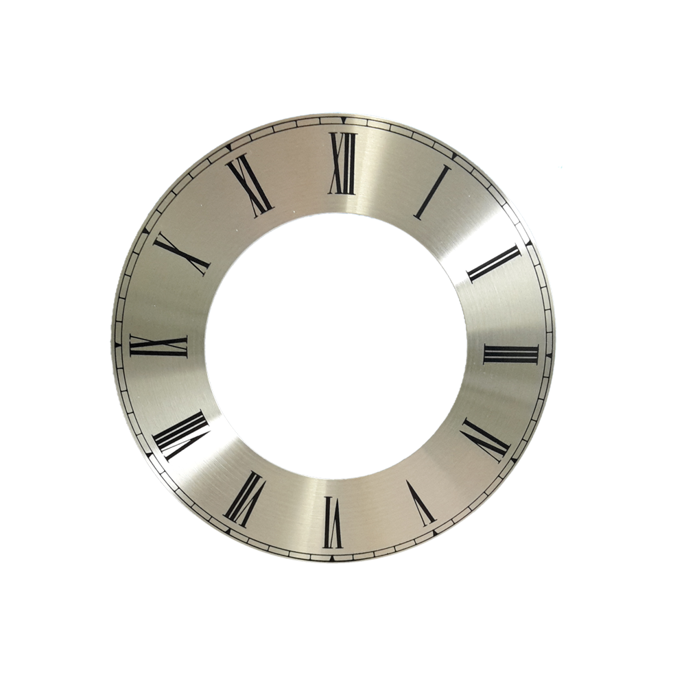 Numerals dial silver for watches Roman numerals Ø 100 mm