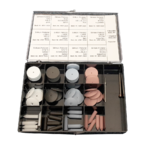 AUGUSTA Silicone Polisher Assortment With 60 Pieces And 2 Mandrel